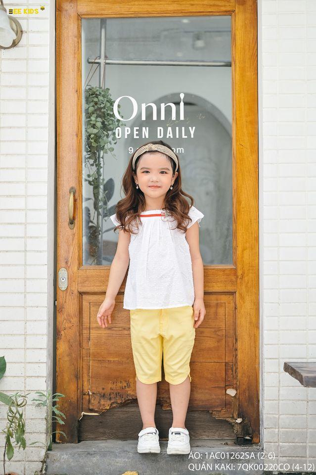 Áo bé gái chất thô hạt gạo size 2-6 tuổi
