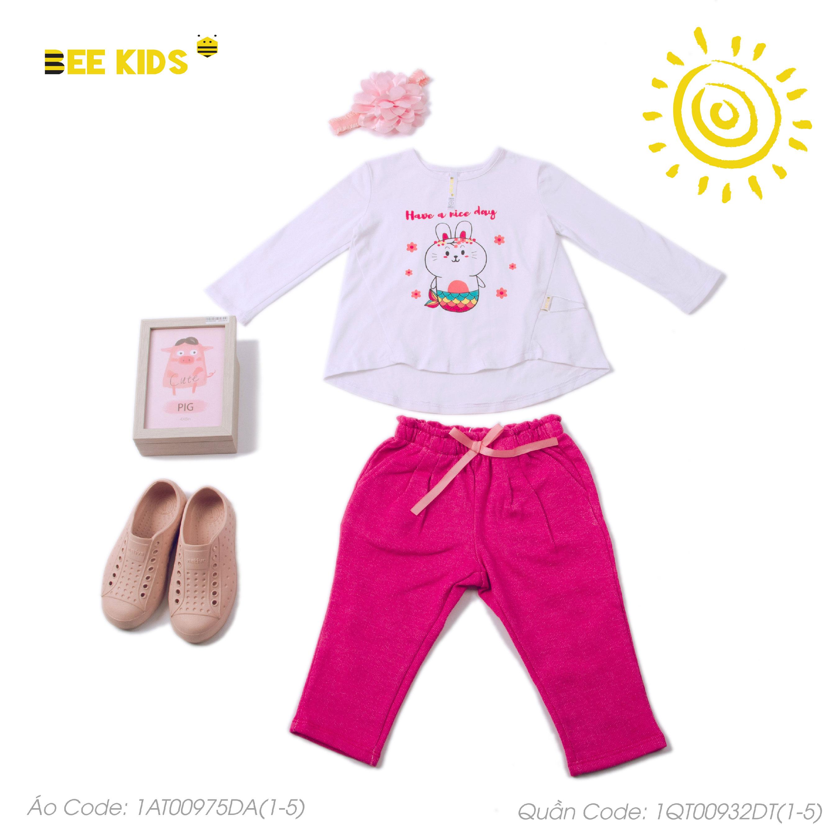 Áo thun bé gái họa tiết từ 1 đến 5 tuổi