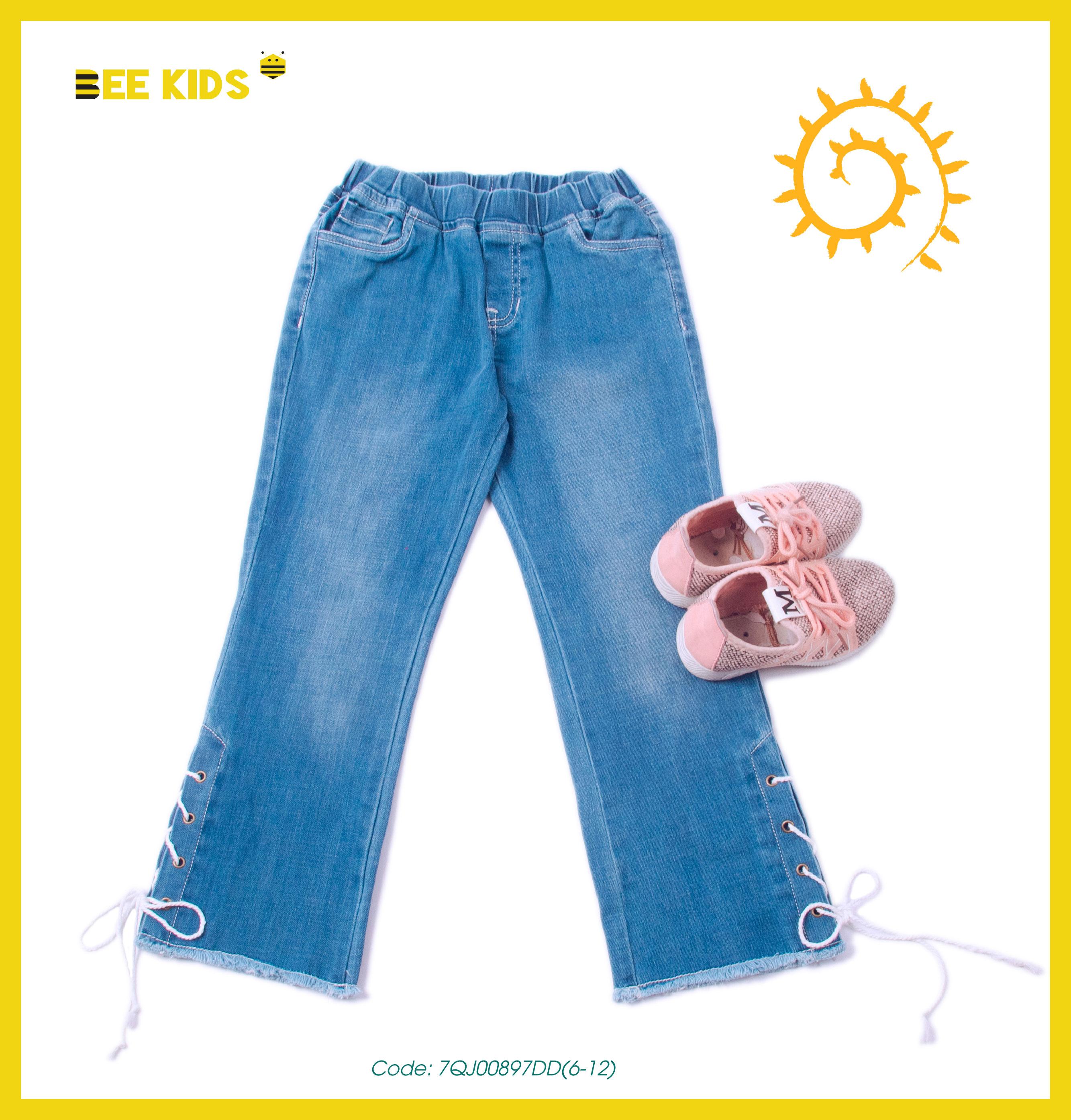 Quần jeans nữ bé gái từ 6 đến 12 tuổi