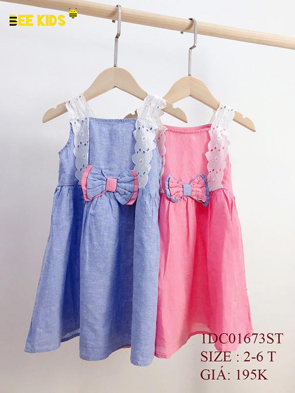 Váy thô bé gái size 2-6 tuổi