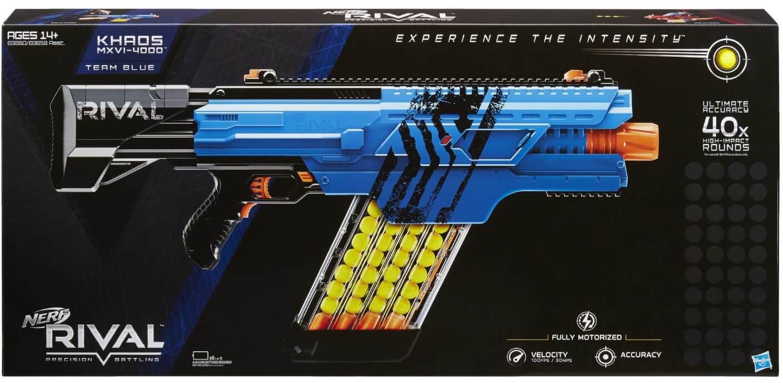 Súng Nerf Rival KHAOS MXVI-4000 Blue