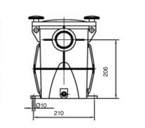 Mặt cắt bơm KSE 300MB công suất 3HP