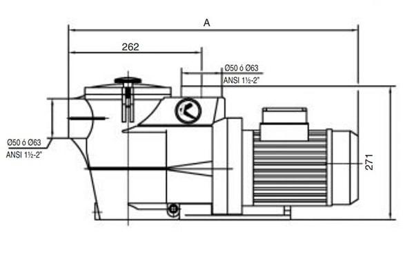 Bản vẽ chi tiết bơm KSE 300MB công suất 3HP