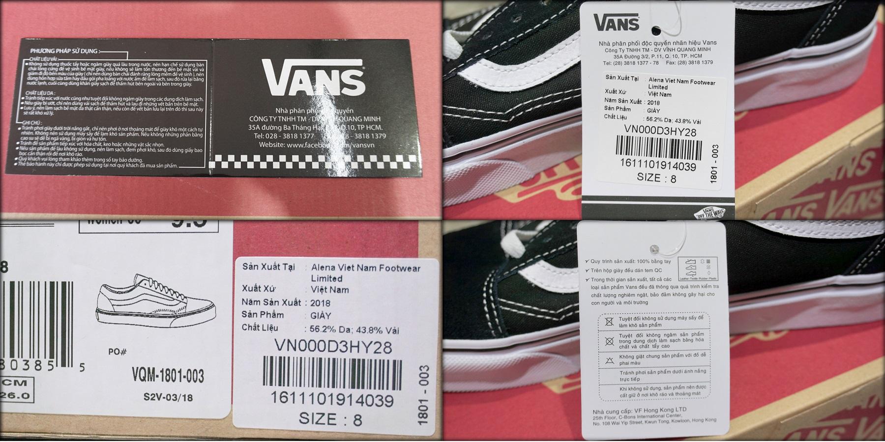 d932ca0a4c Sản phẩm của cửa hàng VANS chính thức tại Việt Nam sẽ có phiếu bảo hành