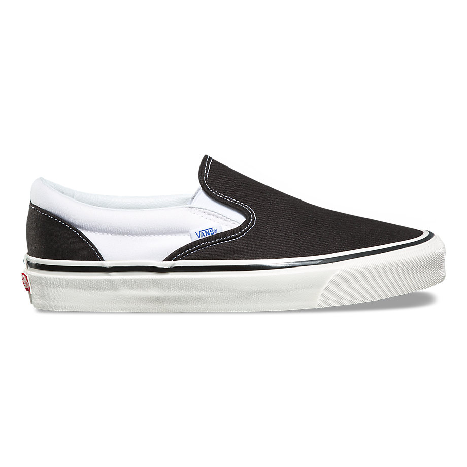 VANS ANAHEIM FACTORY SLIP-ON 98 DX BLACK/WHITE