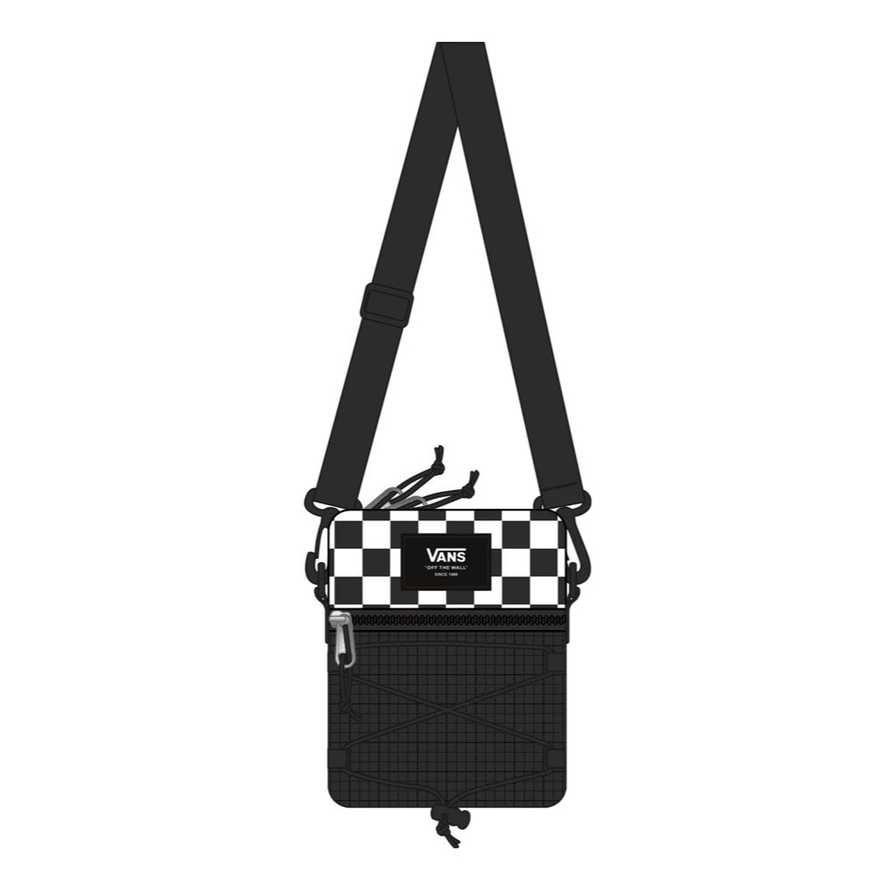 VANS BAIL SHOULDER BAG BLACK/WHITE CHECKER