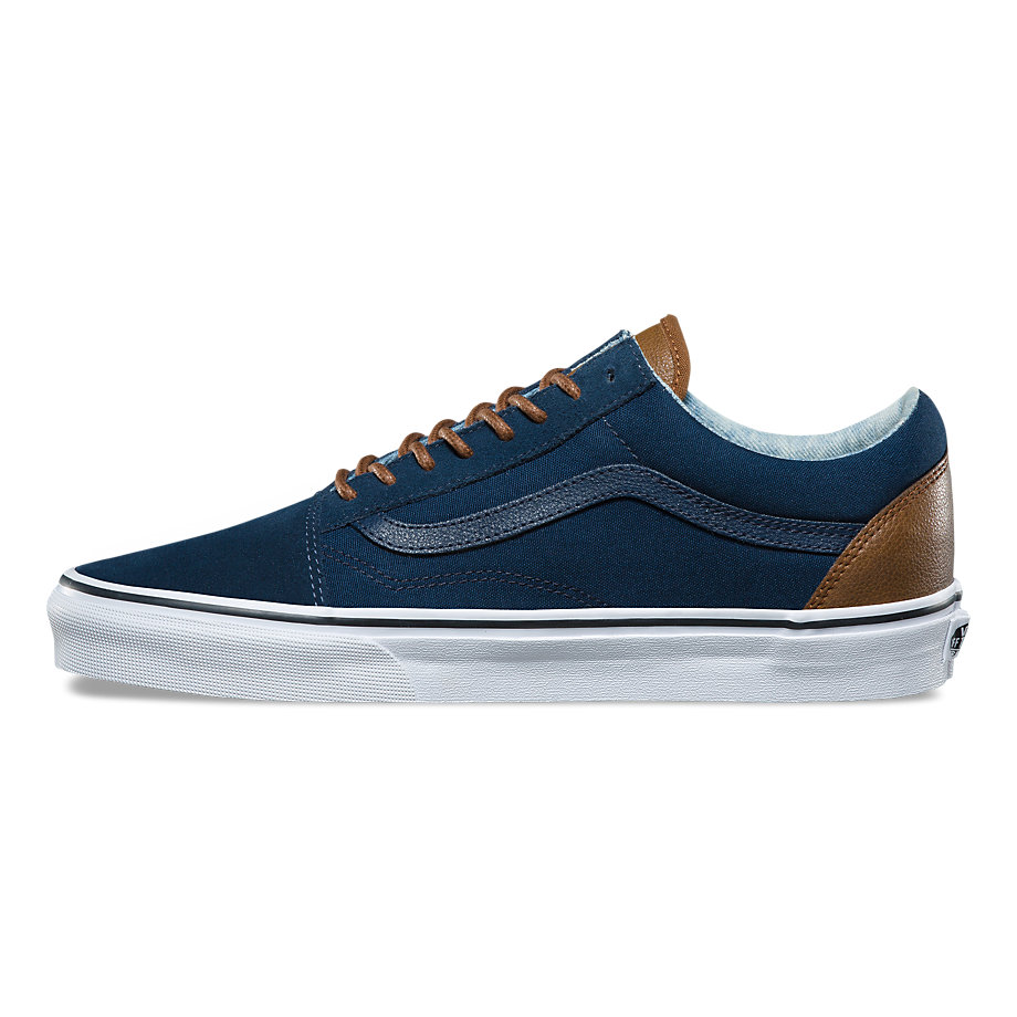 VANS Việt Nam-VANS C&L OLD SKOOL DRESS BLUES ACID DENIM VN0A38G1Q6Z