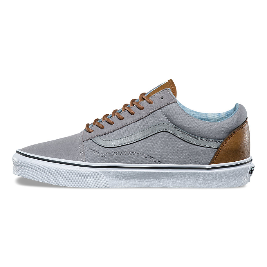 VANS Việt Nam-VANS C&L OLD SKOOL FROST GRAY ACID DENIM VN0A38G1Q70
