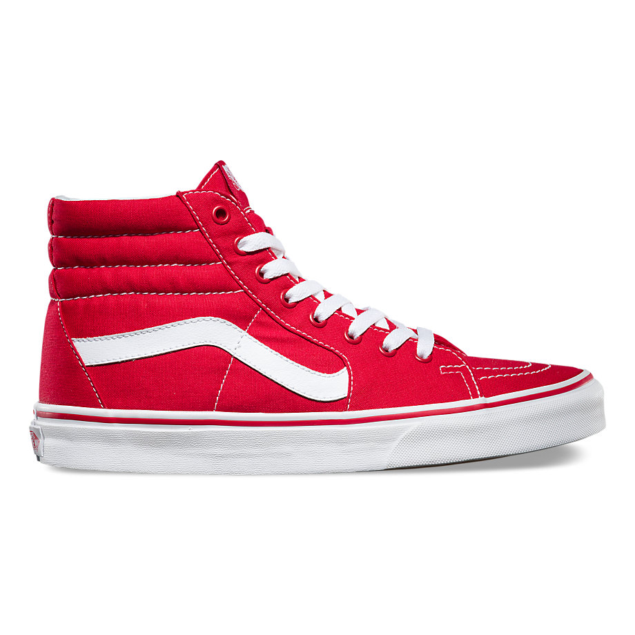VANS SK8 -HI SLIM RED/TRUE WHITE