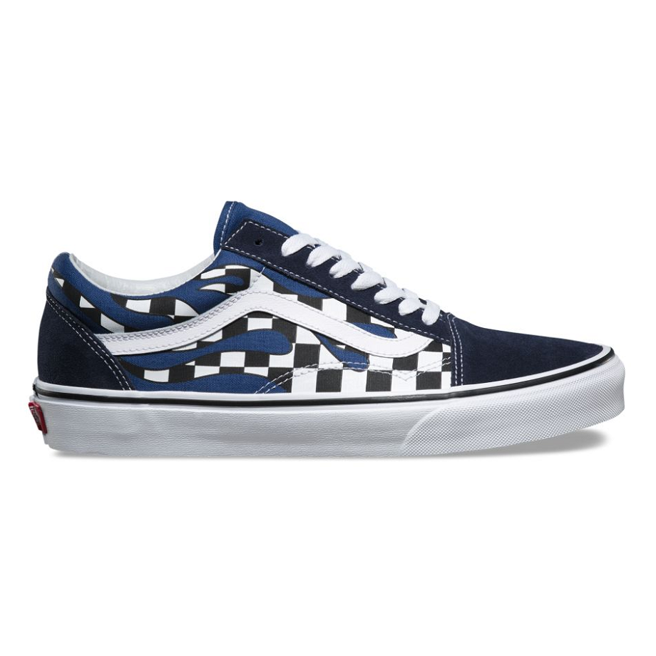 VANS CHECKER FLAME OLD SKOOL NAVY/TRUE WHITE