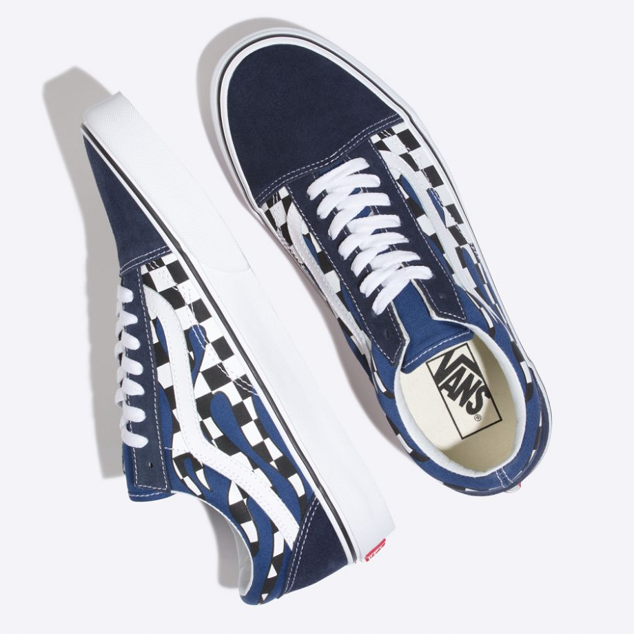 VANS Việt Nam - VANS CHECKER FLAME OLD SKOOL NAVY VN0A38G1RX6