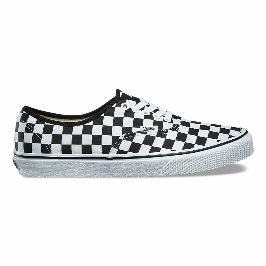 VANS CHECKERBOARD AUTHENTIC BLACK/TRUE WHITE