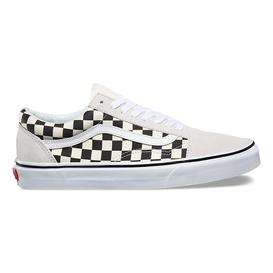VANS Việt Nam - VANS CHECKERBOARD OLD SKOOL WHITE/BLACK VN0A38G127K