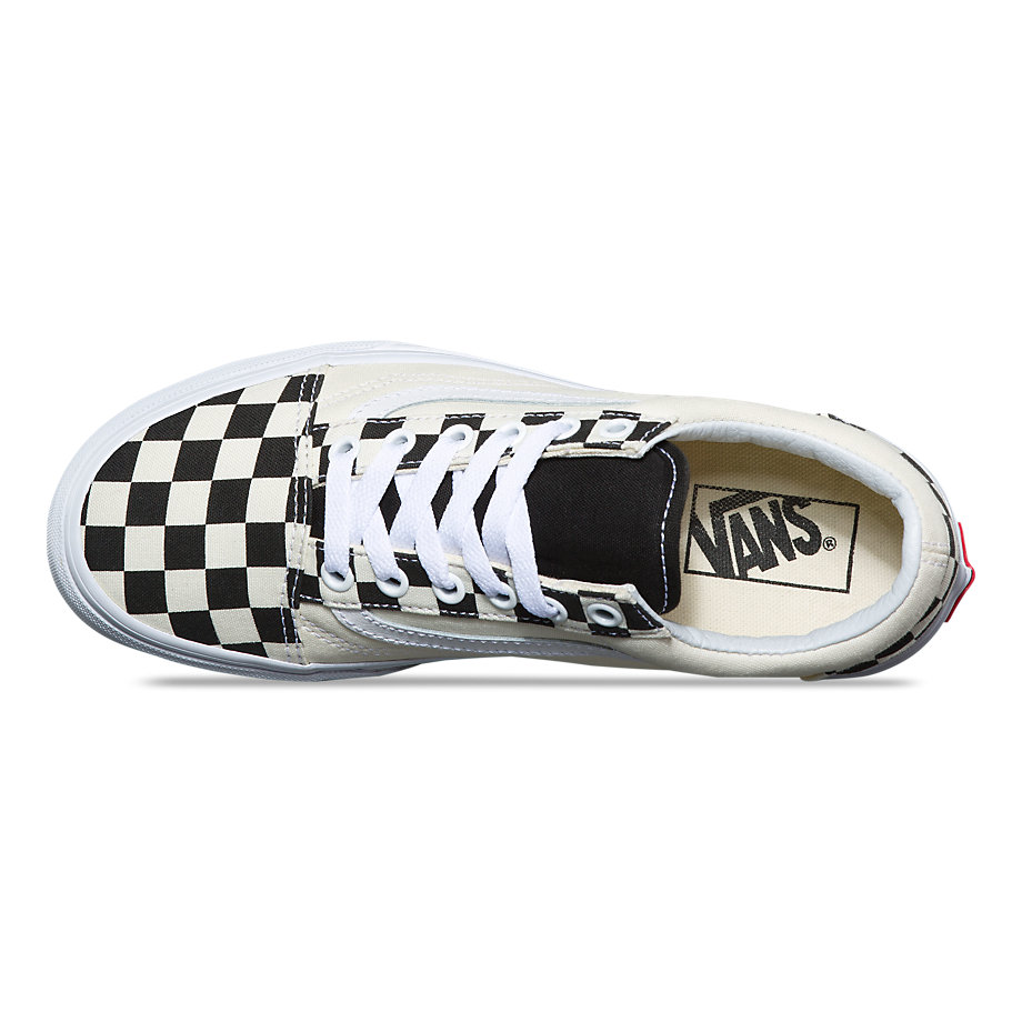 VANS Việt Nam - VANS CHECKERBOARD SIDEWALL OLD SKOOL BLACK/TRUE WHITE VN0A38G1QMI