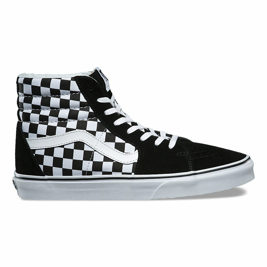 VANS CHECKERBOARD SK8-HI BLACK/TRUE WHITE