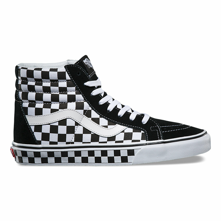 VANS CHECKERBOARD SK8-HI REISSUE BLACK/WHITE