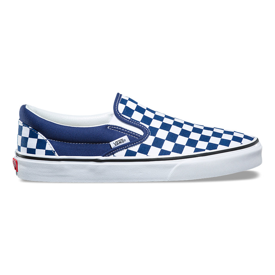 VANS Việt Nam - VANS CHECKERBOARD SLIP-ON BLUE/WHITE VN0A38F7QCN