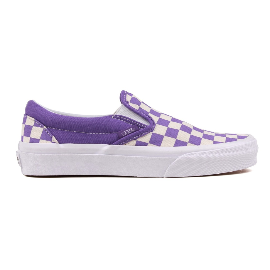 VANS CHECKERBOARD SLIP ON CLASSIC PURPLE/WHITE