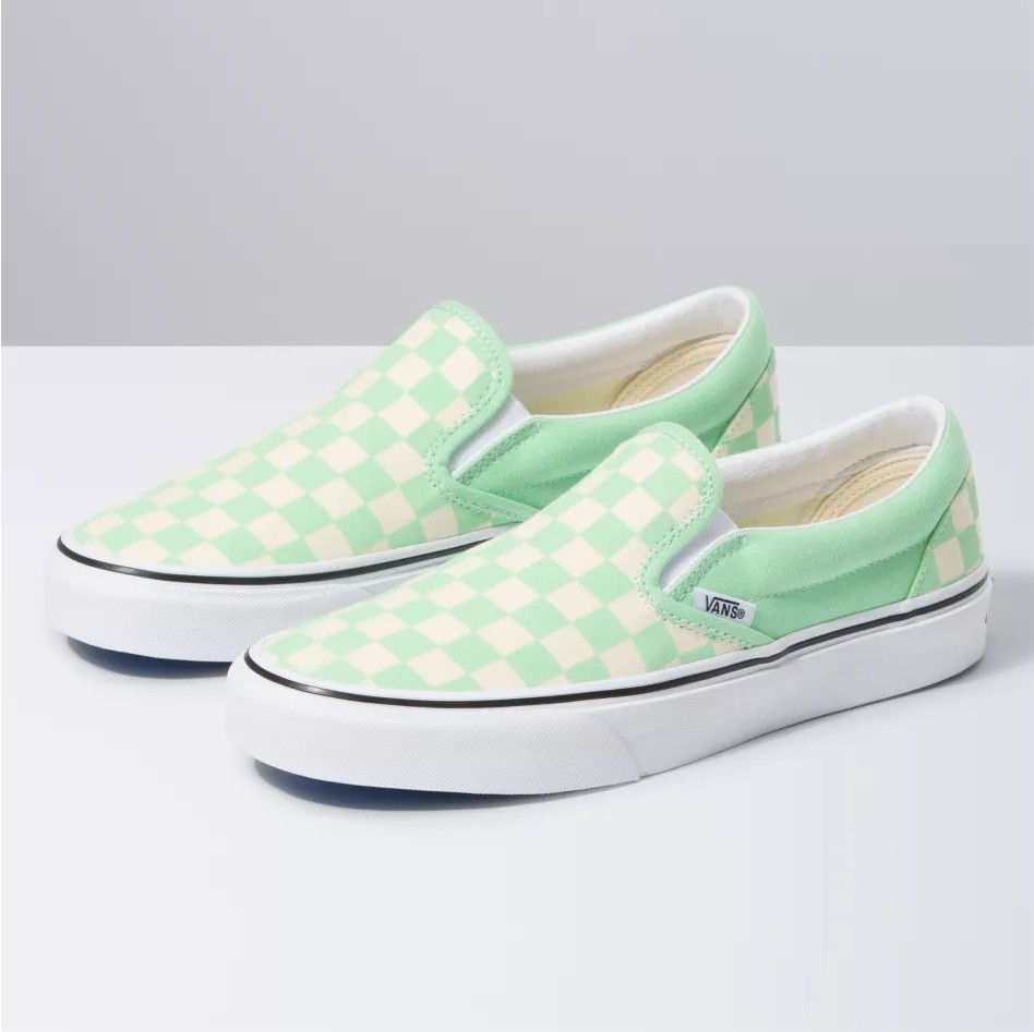 VANS VIỆT NAM - VANS CHECKERBOARD SLIP-ON GREEN ASH VN0A4U38WS1