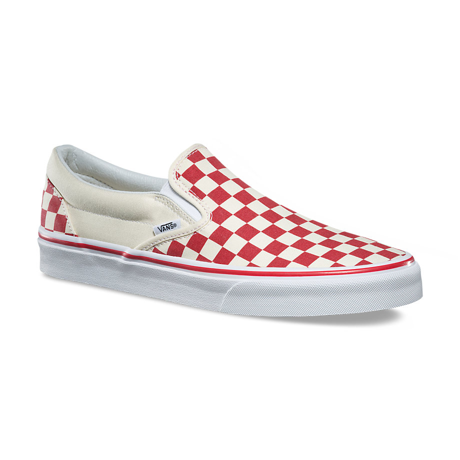 VANS Việt Nam - VANS CHECKERBOARD SLIP-ON RED/WHITE VN0A38F7P0T
