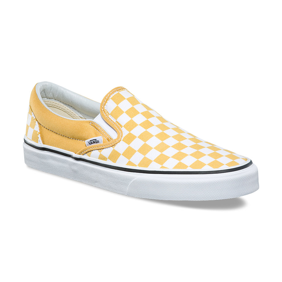 VANS Việt Nam - VANS CHECKERBOARD SLIP-ON YELLOW/WHITE VN0A38F7QCN