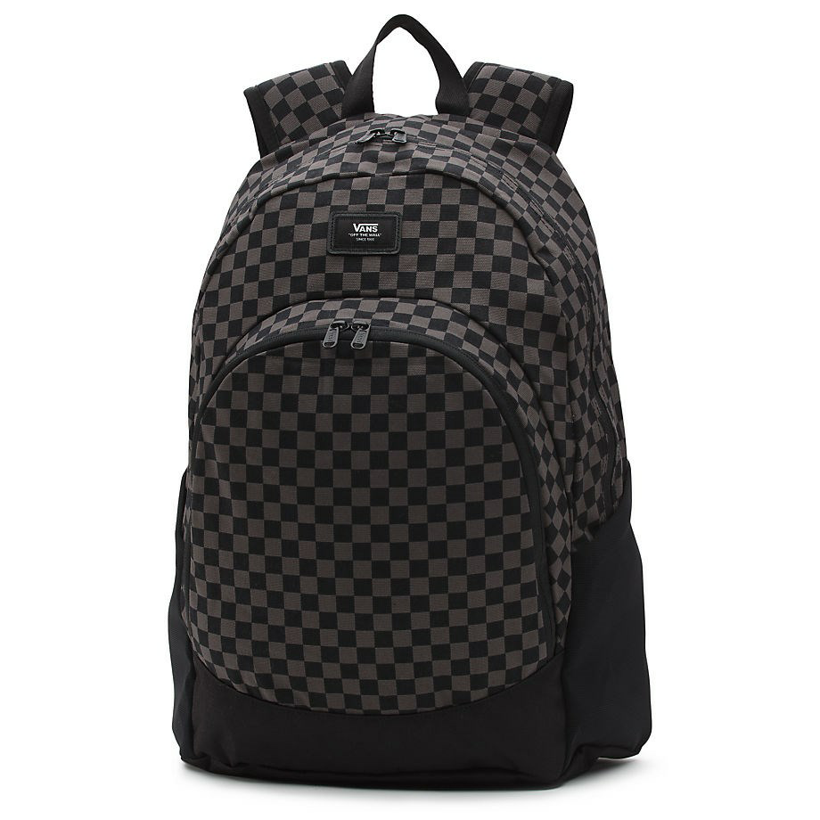 VANS CHECKERBOARD VAN DOREN ORIGINAL BACKPACK BLACK