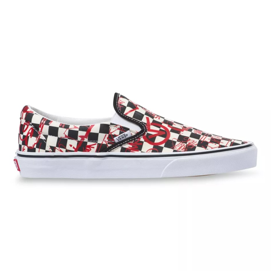 VANS CREW SLIP-ON STYLE 36 CHECKERBOARD RED