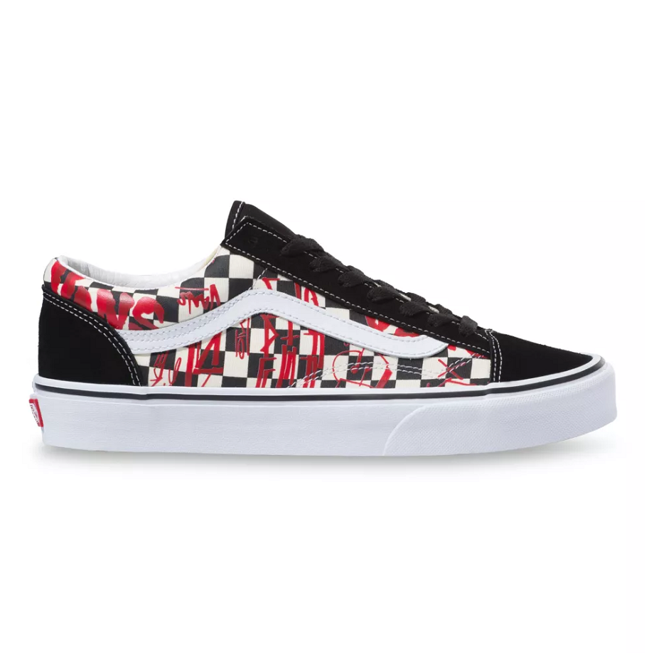 VANS CREW STYLE 36 CHECKERBOARD RED
