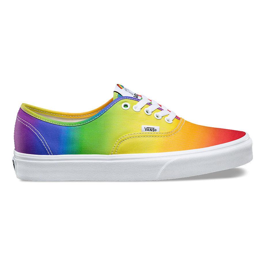 VANS DALLAS CLAYTON AUTHENTIC RAINBOW TRUE WHITE