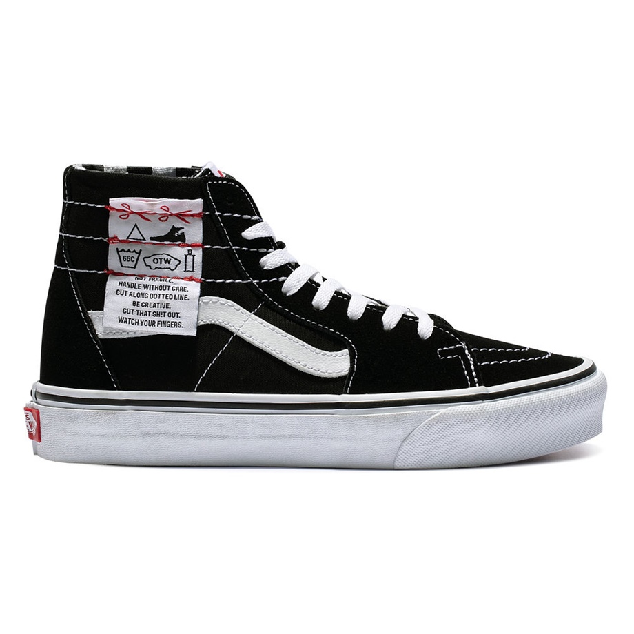 VANS DIY SK8-HI TAPERED BLACK/TRUE WHITE