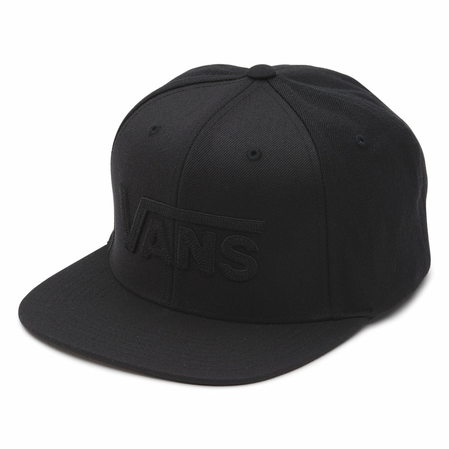 VANS DROP V SNAPBACK HAT BLACK/BLACK