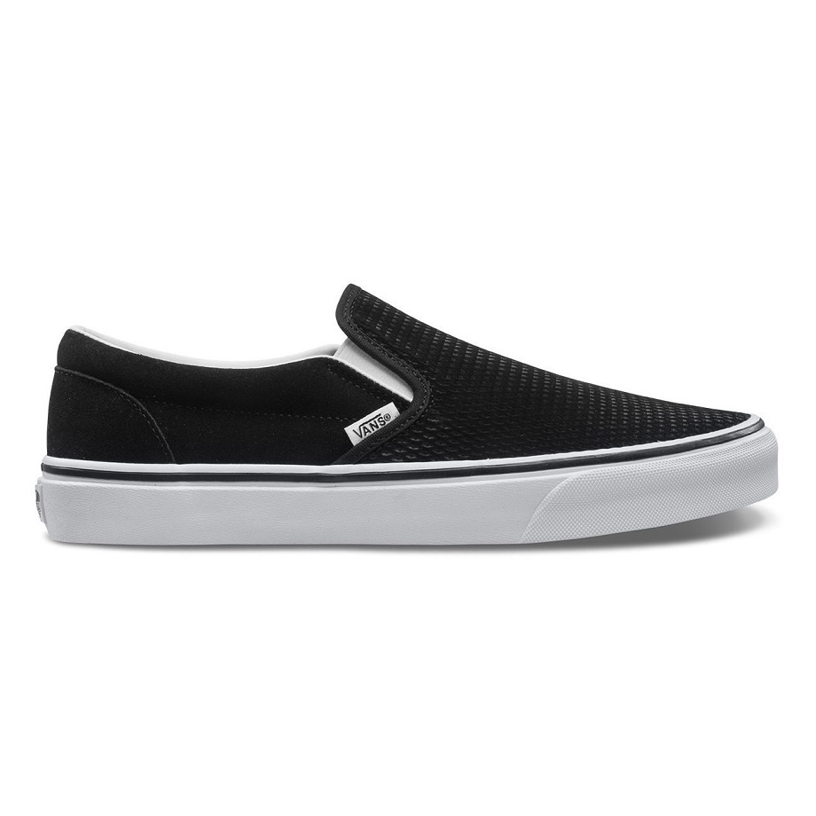 VANS EMBOSSED SUEDE SLIP-ON BLACK/TRUE WHITE
