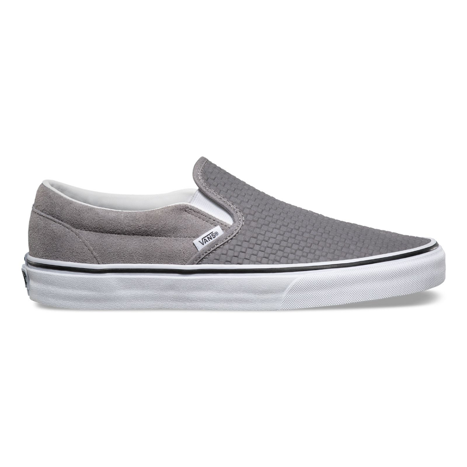 VANS EMBOSSED SUEDE SLIP-ON FROST GRAY/TRUE WHITE