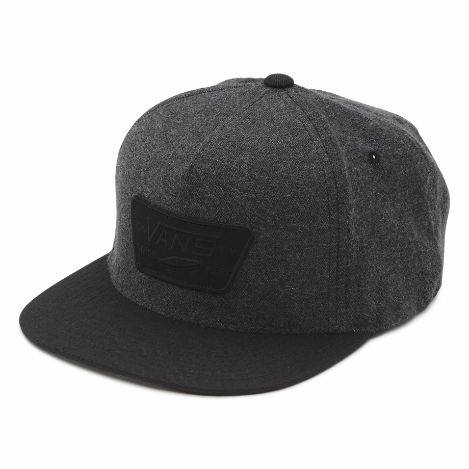 VANS FULL PATCH SNAPBACK HAT ASPHALT/BLACK