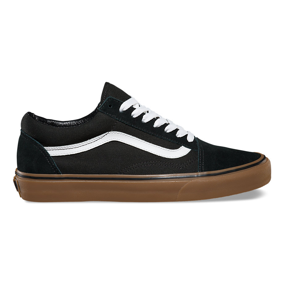 VANS Việt Nam-VANS GUM OLD SKOOL BLACK/MEDIUM GUM VN0001R1GI6