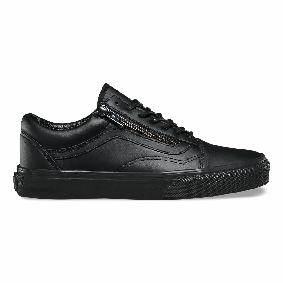 VANS GUNMETAL OLD SKOOL ZIP