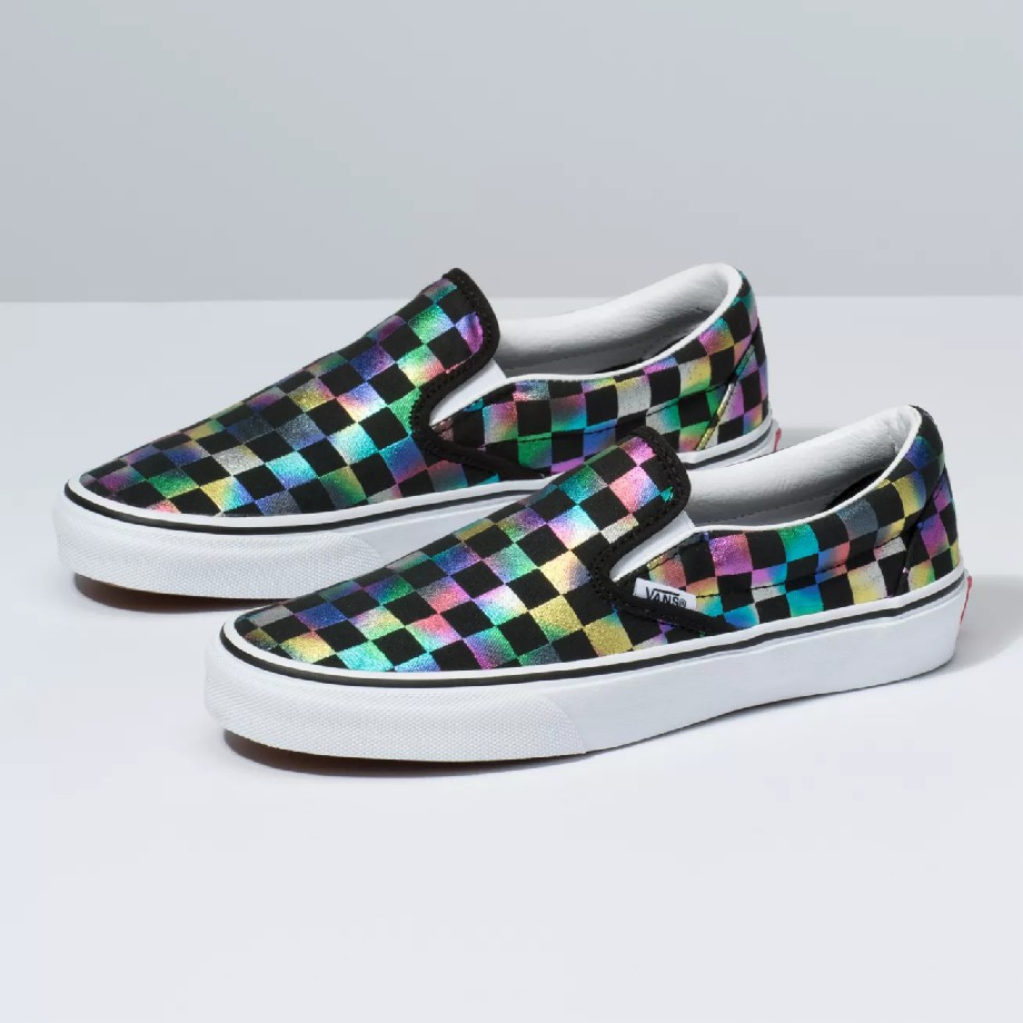 VANS Việt Nam - VANS IRIDESCENT CHECK SLIP-ON BLACK VN0A2Z5ISRY