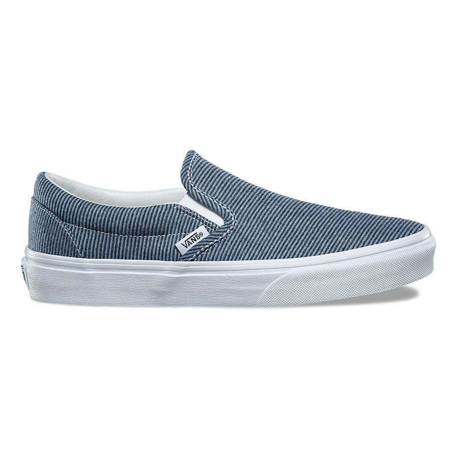 VANS JERSEY SLIP-ON BLUE/TRUE WHITE
