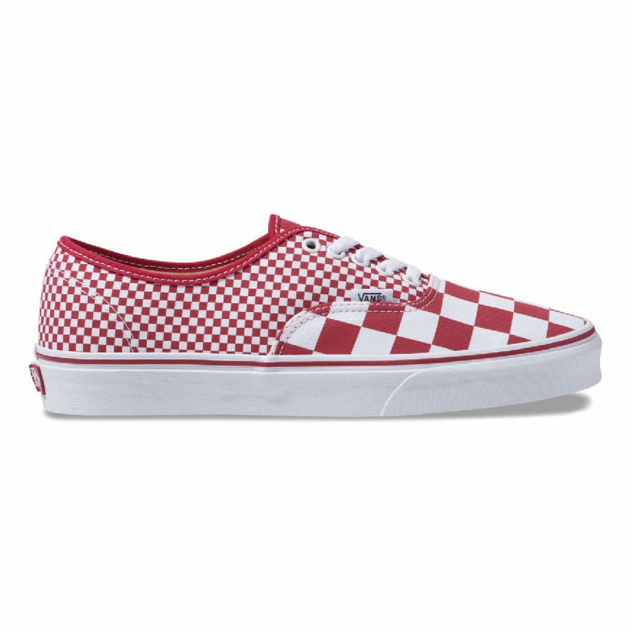 VANS MIX CHECKER AUTHENTIC CHILI PEPPER/TRUE WHITE