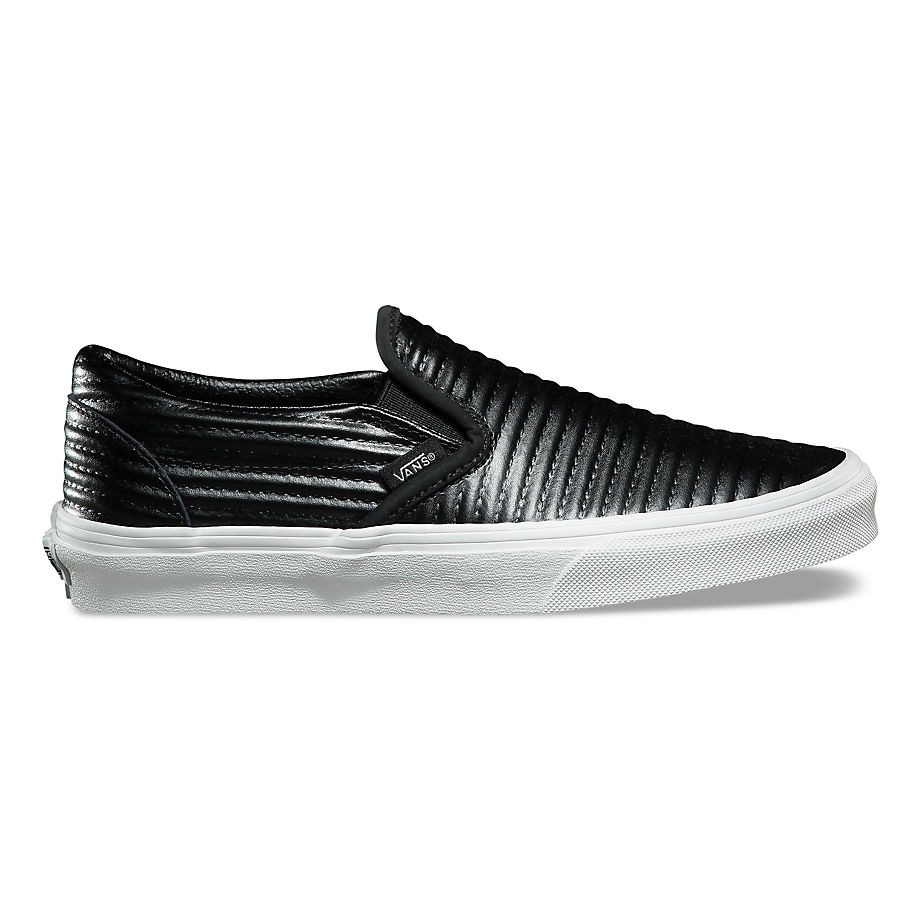 VANS MOTO LEATHER CLASSIC SLIP-ON BLACK
