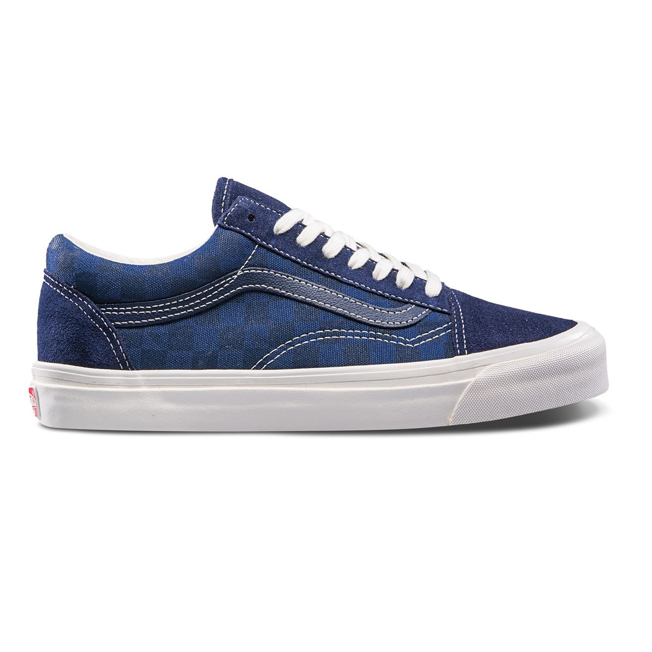 VANS VAULT OG OLD SKOOL LX (SUEDE/CANVAS) CHECKERBOARD/MAJOLICA
