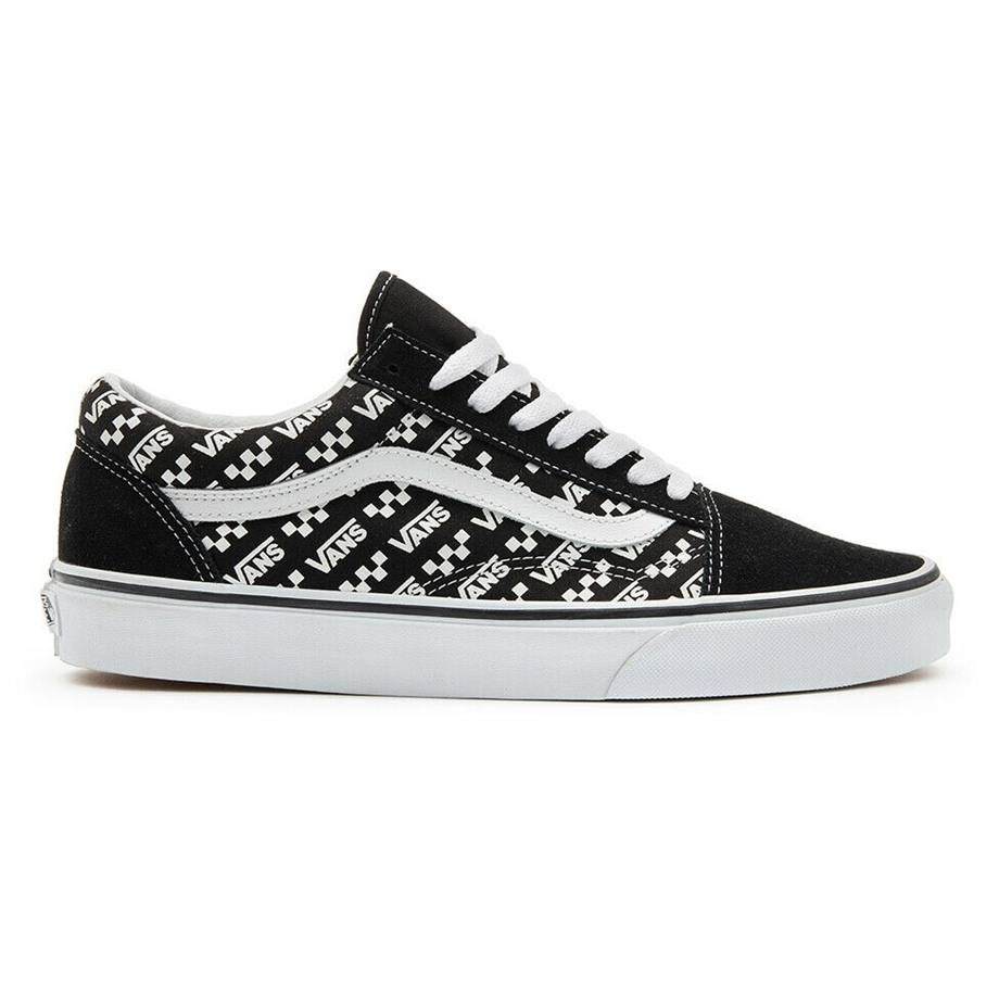 VANS OLD SKOOL LOGO REPEAT BLACK/WHITE