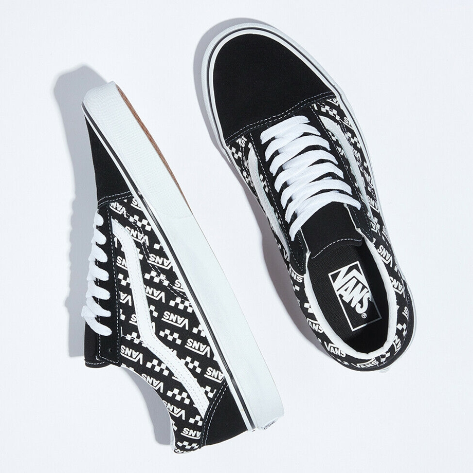 VANS Việt Nam - VANS OLD SKOOL LOGO REPEAT BLACK WHITE VN0A4U3BTEZ