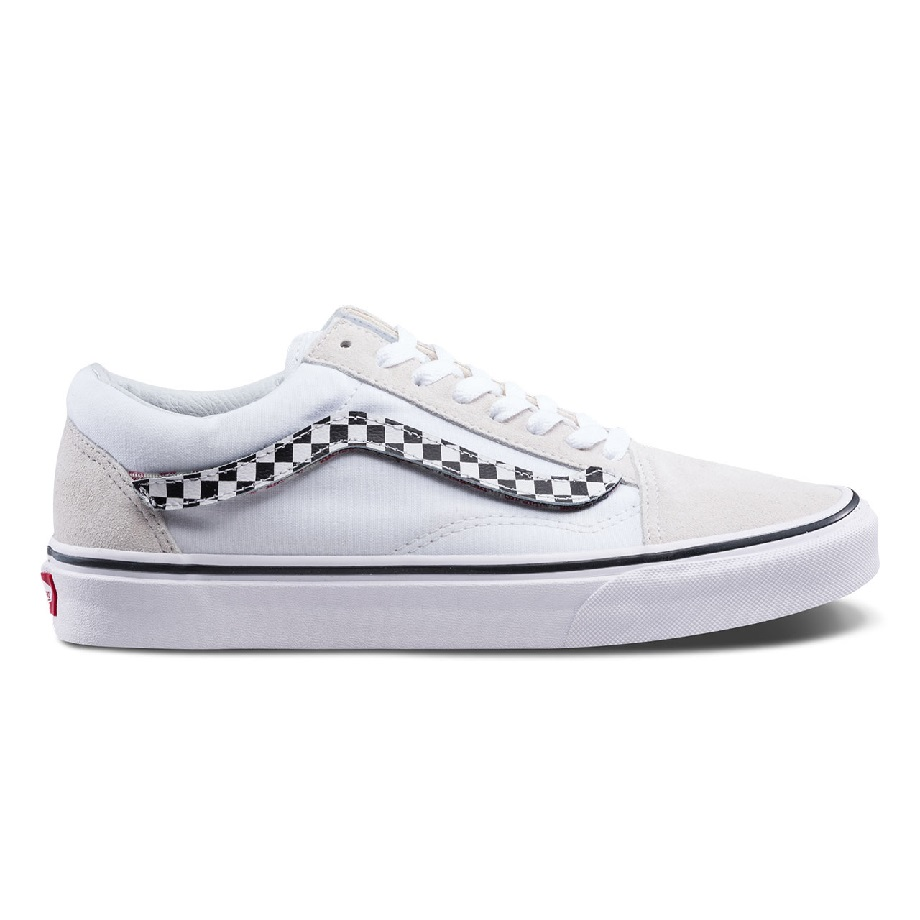 VANS OLD SKOOL SIDESTRIPE V WHITE