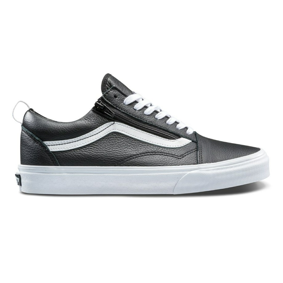 VANS OLD SKOOL ZIP (LEATHER) BLACK