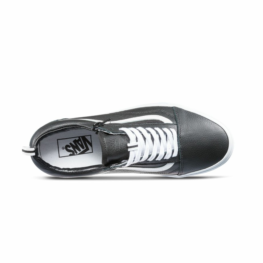 VANS Việt Nam - VANS OLD SKOOL ZIP (LEATHER) BLACK VN0A3493L3A