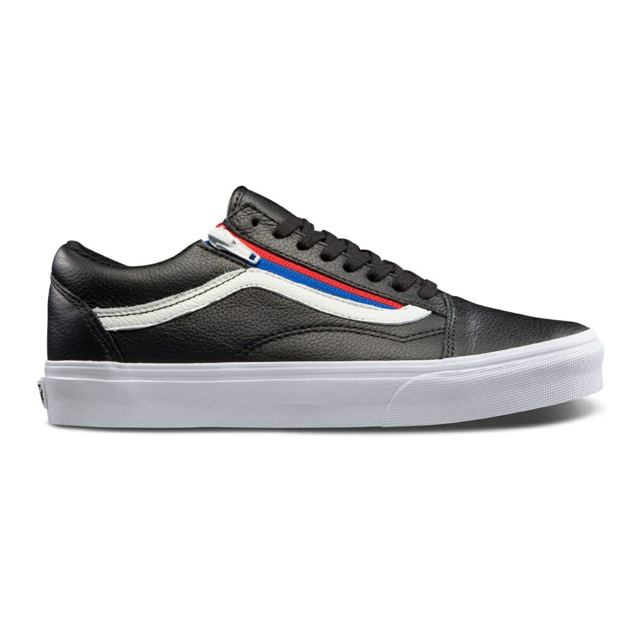 VANS Việt Nam - VANS OLD SKOOL ZIP (LEATHER) BLACK VN0A3493OU8