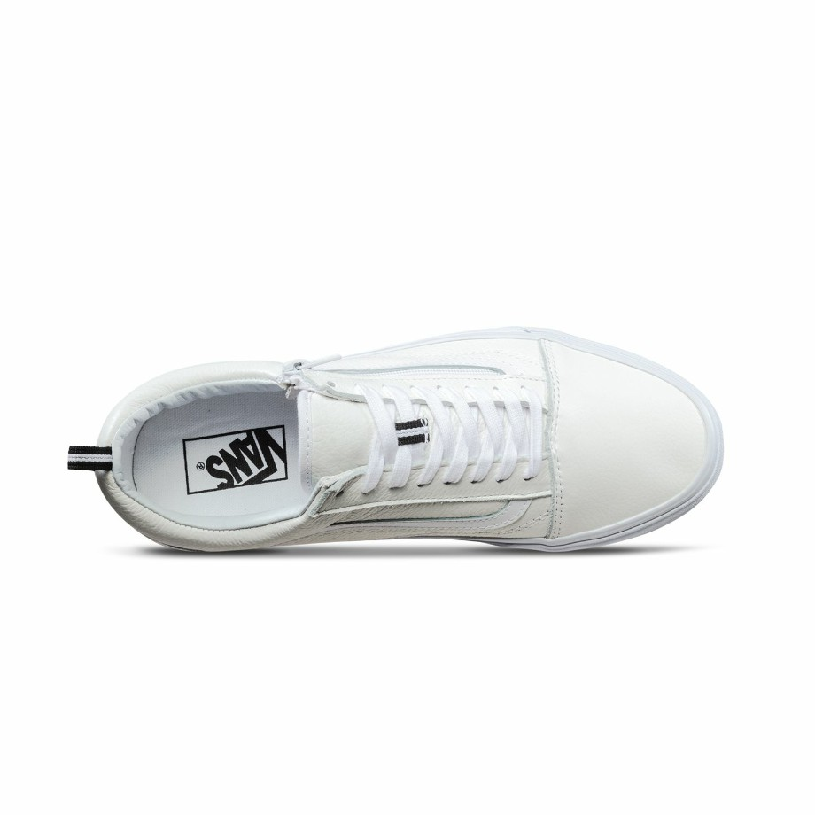 VANS OLD SKOOL ZIP (LEATHER) WHITE