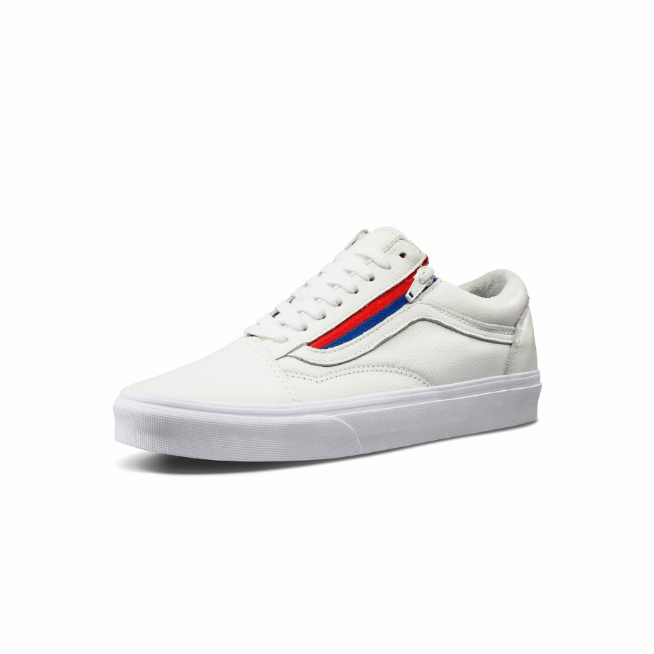 VANS Việt Nam- VANS OLD SKOOL ZIP (LEATHER) WHITE VN0A3493OU9
