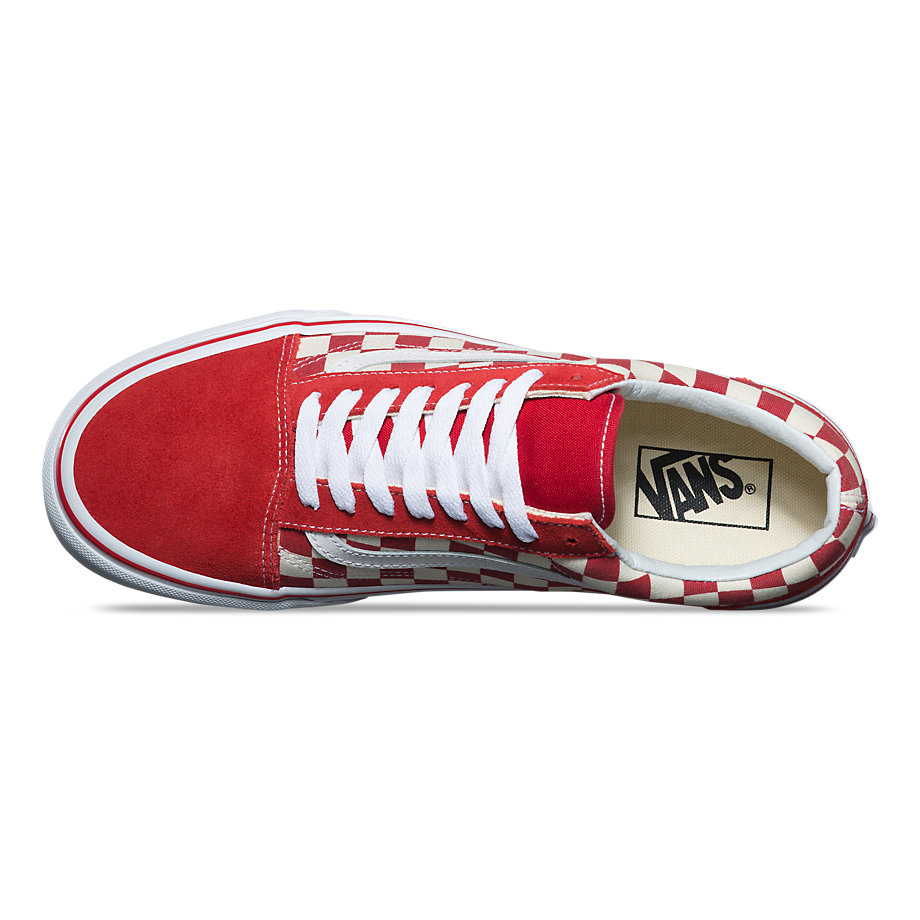 VANS Việt Nam - CHECKERBOARD OLD SKOOL RACING RED WHITE VN0A38G1P0T